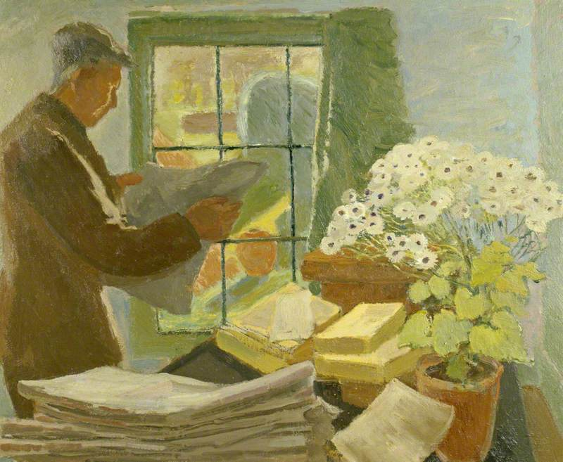 Parsons, Marjorie Tulip Ritchie ('Trekkie'); Leonard Sidney Woolf (1880-1969), at a Window in Monk's House; National Trust, Monk's House; http://www.artuk.org/artworks/leonard-sidney-woolf-18801969-at-a-window-in-monks-house-220648