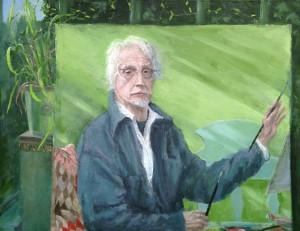 Conservatory self-portrait